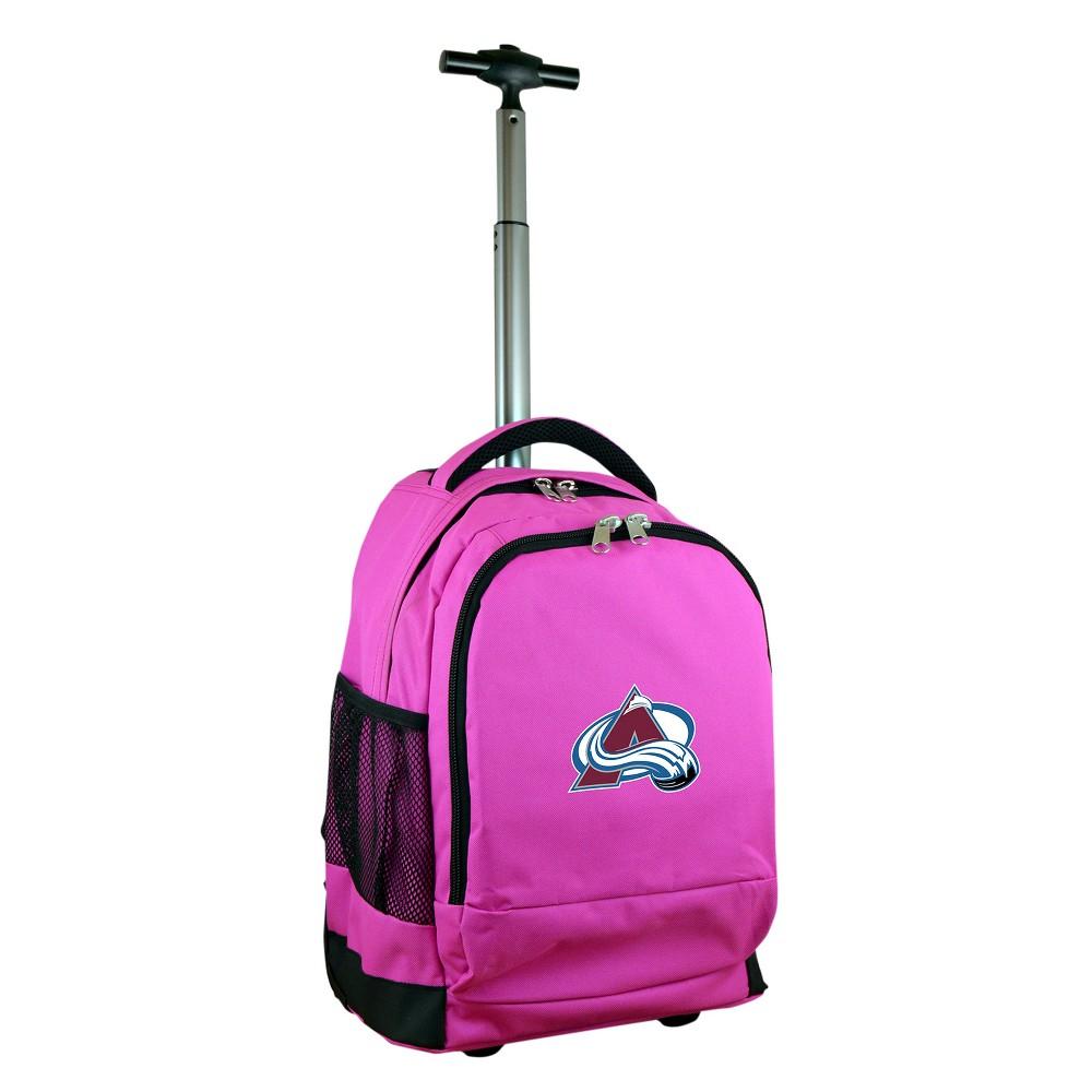 NHL Colorado Avalanche Mojo Premium Wheeled Backpack - Pink