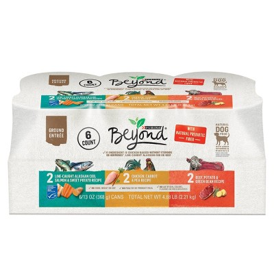 Purina Beyond Grain Free Ground Entrée Chicken, Beef & Whitefish Recipes Wet Dog Food - 13oz/6ct Variety Pack