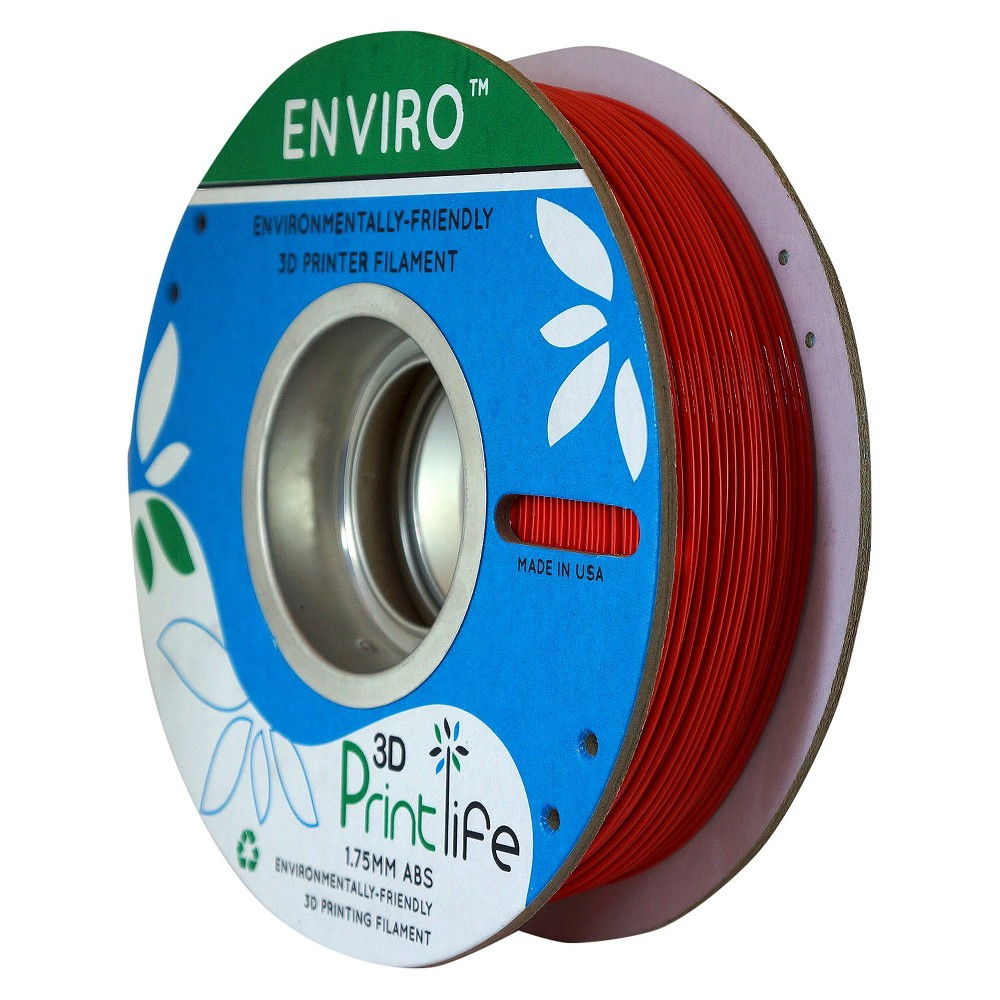 Image of 3D Printlife Enviro Eco-Friendly 1.75mm Premium Abs Filament - Red (8130378)