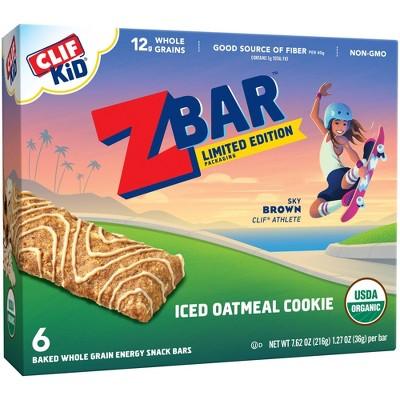 CLIF Kid ZBAR Organic Iced Oatmeal Cookie Snack Bars