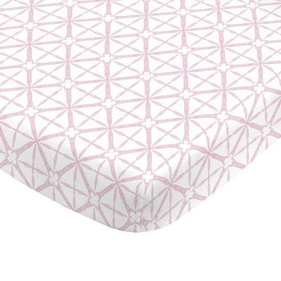 NoJo Super Soft Pink Tie Dye Nursery Crib Fitted Sheet