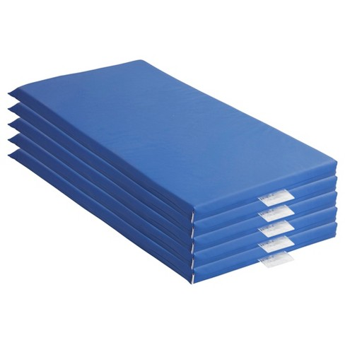 ECR4Kids Value 4-Fold Daycare Rest Mat 1 Thick Blue and Grey ...