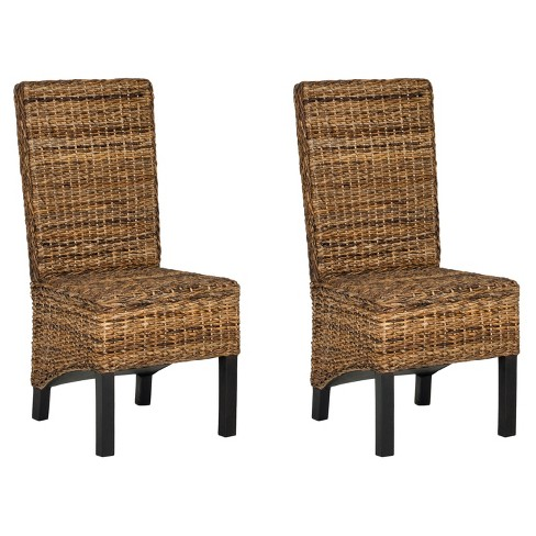 Pembrooke Dining Chair Wood/Natural/Black (Set of 2) - Safavieh® - image 1 of 4