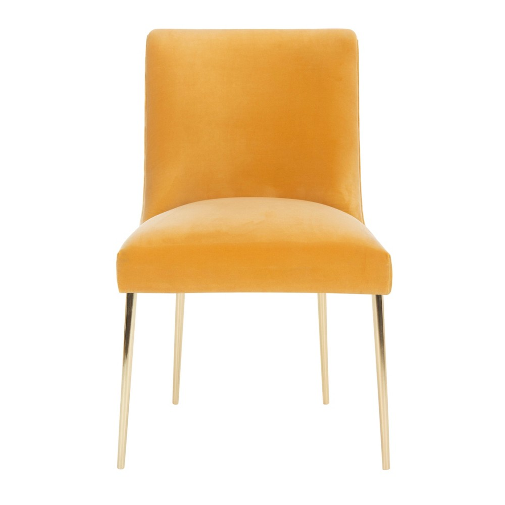 Nolita Velvet Accent Chair Mustard (Yellow) - Safavieh