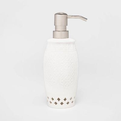 Mallorca Porcelain Cut Out Soap/Lotion Dispenser White - Opalhouse™