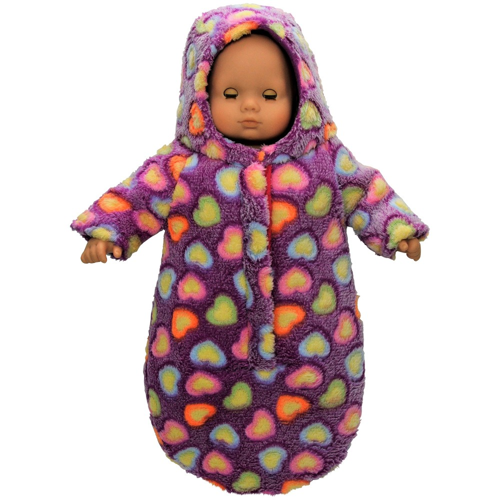 The Queen's Treasures 15 Doll Bitty Bunting Twin Snow Suit Purple