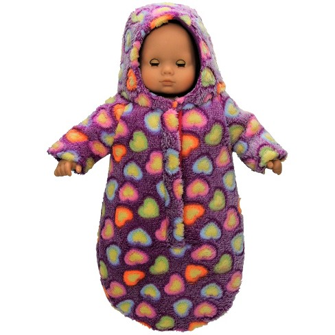 "The Queen's Treasures® 15"" Doll Bitty Bunting Twin Snow Suit Purple - image 1 of 3"