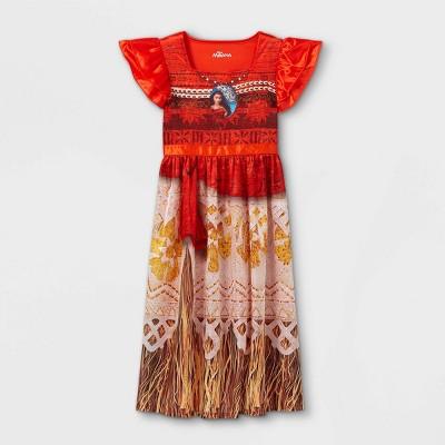 Girls' Disney Princess Moana Nightgown - Orange