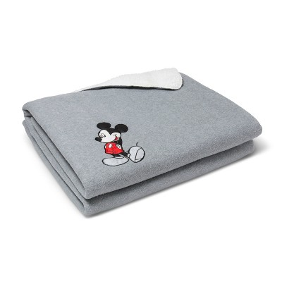 Mickey Mouse & Friends® Mickey Mouse Gray Bed Blanket (Full)