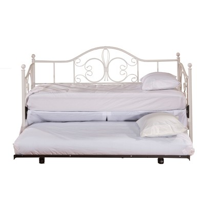 Twin Ruby Daybed Suspension Deck and Trundle Textured White - Hillsdale Furniture