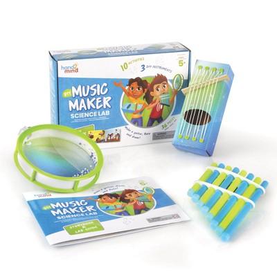 hand2mind DIY Music Maker Science Kit with Storybook, Create A Pan Flute, Ocean Drum & Box Guitar
