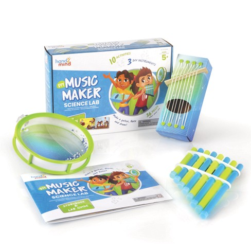 hand2mind DIY Music Maker Science Kit with Storybook, Create A Pan Flute, Ocean Drum & Box Guitar - image 1 of 4