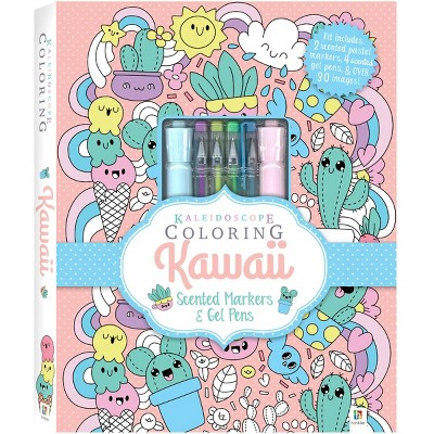 Kaleidoscope Coloring Kit: Kawaii - Hinkler Books