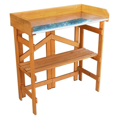 Rectangular Folding Utility Table And Potting Bench - Natural - Merry Products - image 1 of 6