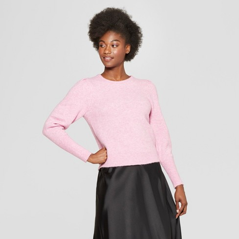 Women's Pleat Sleeve Pullover Sweater - A New Day™ - image 1 of 3