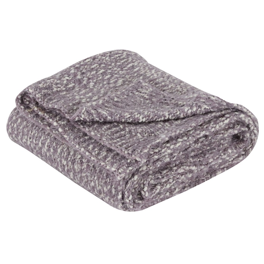 "Image of ""60""""x50"""" Elijah Knit Throw Silver - Decor Therapy"""