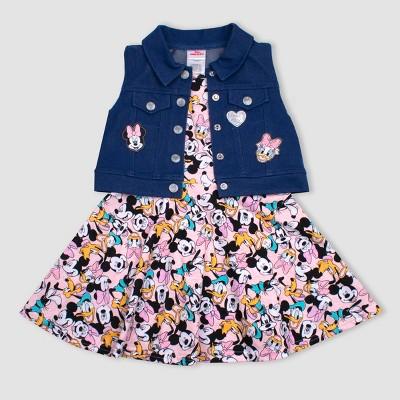21578e3c1 Toddler Girls' 2pc Disney Minnie Mouse Crew Dress and Vest Set