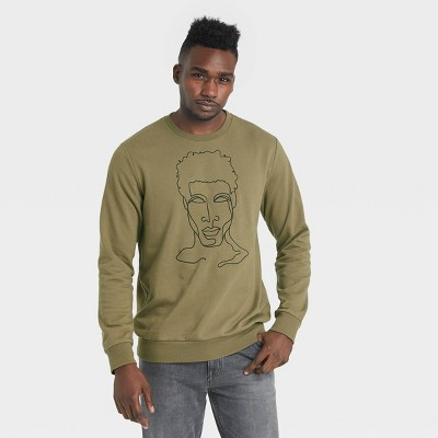 Black History Month Men's Silhouette Sweatshirt - Green