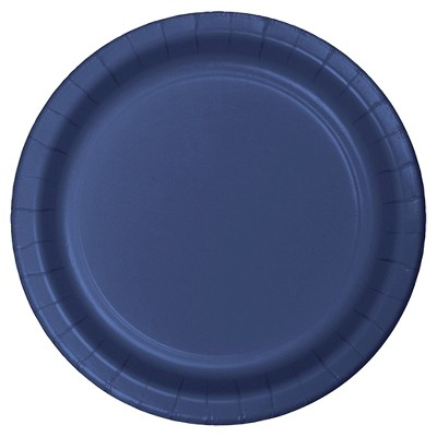 """Navy Blue 9"""" Paper Plates - 24ct"""