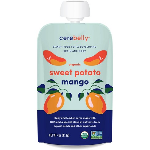 Cerebelly Organic Sweet Potato Mango Baby Meals Pouch - 4oz - image 1 of 3