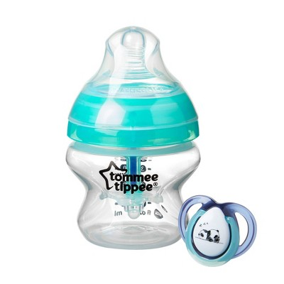 Tommee Tippee Advanced Anti-Colic Baby Bottle with Newborn Pacifier - 0-2 Months - 5oz