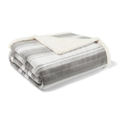 Ashworth Stripe Throw Blanket Gray - Eddie Bauer