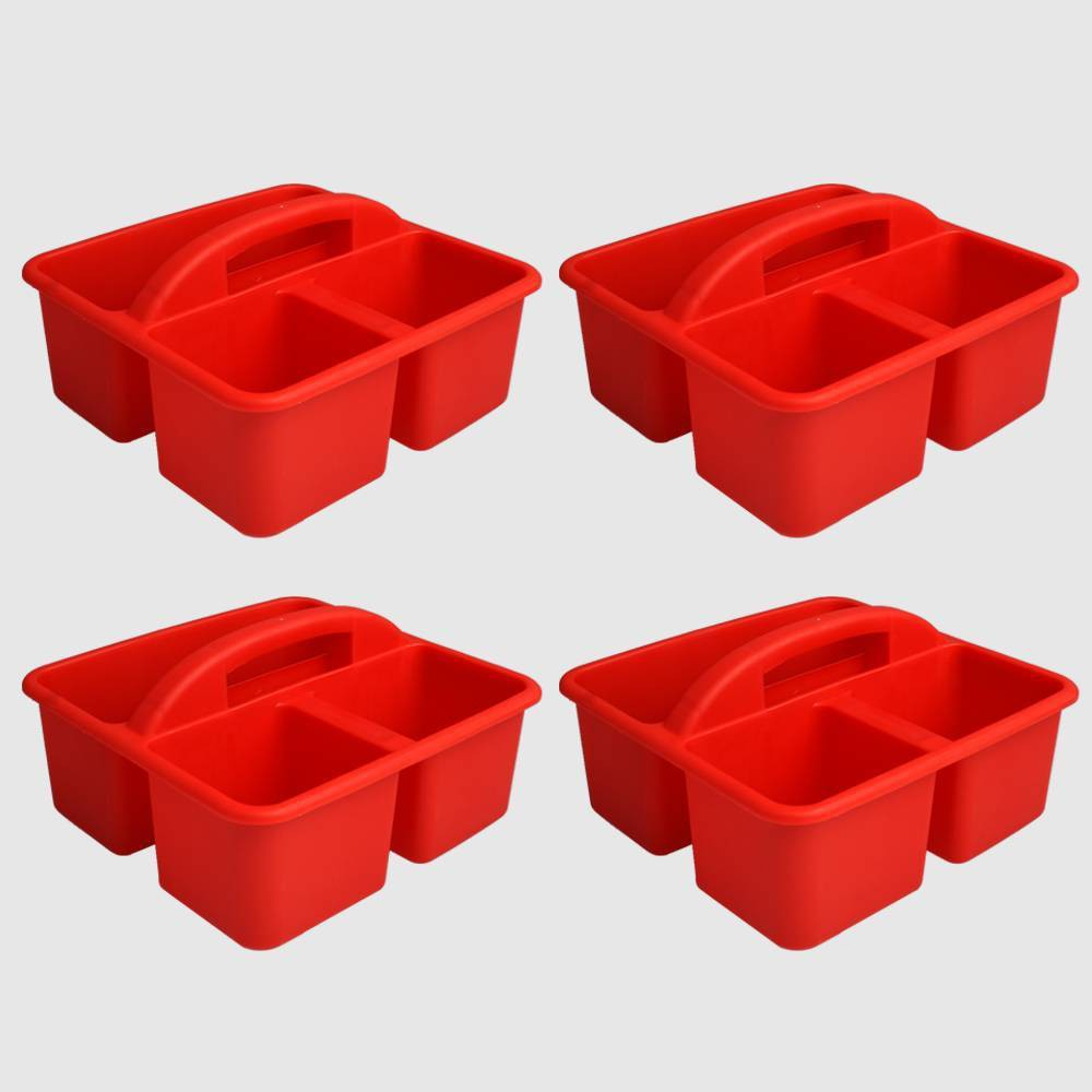 4ct Plastic Supply Caddy Red - Bullseye's Playground was $12.0 now $6.0 (50.0% off)