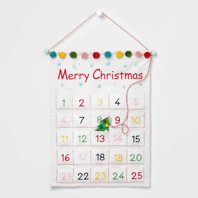 Merry Christmas Wall Hanging Advent Calendar - Wondershop™