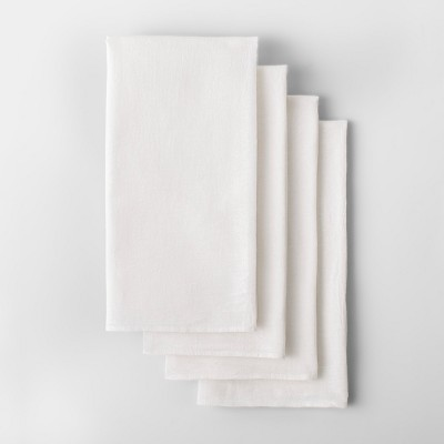 4pk Solid Flour Sack Dishtowel White - Made By Design™