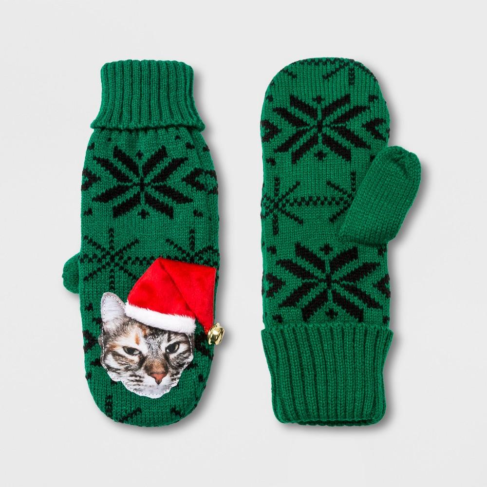 Women's Cat Mitten - Green