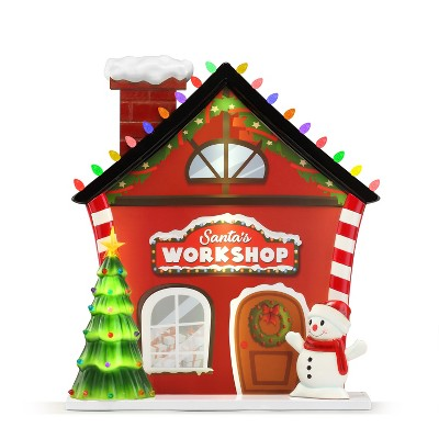Mr. Christmas Outdoor Light up Christmas Decoration - Santa Workshop