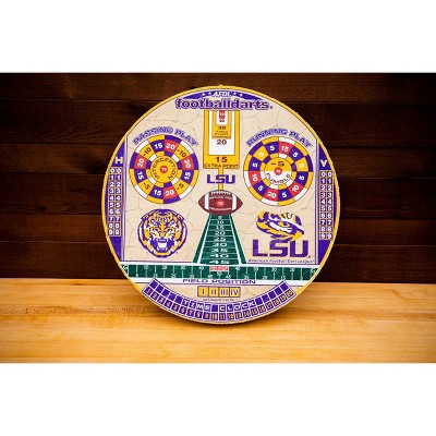 NCAA Louisiana State Tigers Official Football Dartboard