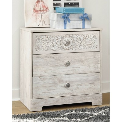 Paxberry 3 Drawer Chest Whitewash - Signature Design by Ashley