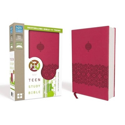 Teen Study Bible-NIV - by  Zondervan (Leather Bound)