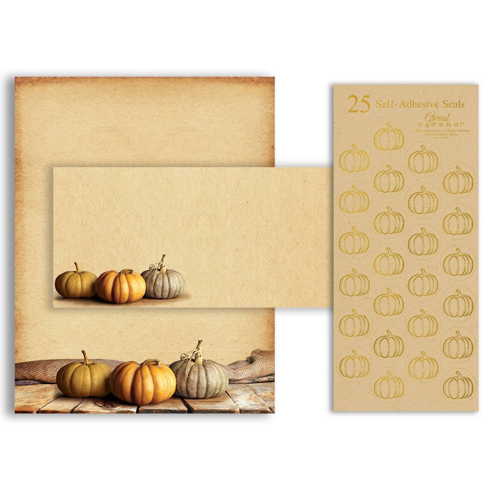 Image of 25ct Fall Pumpkins Stationery Kit