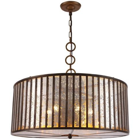 "Elegant Lighting 1704D26 Frisco 6 Light 26"" Wide Drum Chandelier - image 1 of 1"