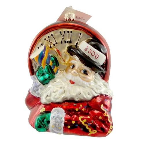 Christopher Radko No Time For The Present Santa Ornament Dated 2000 Santa - image 1 of 2