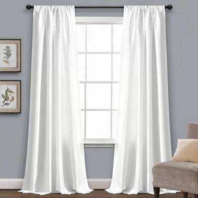 """84""""x54"""" Venetian Window Curtain White - Lush Décor"""