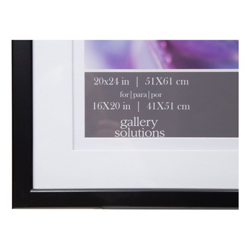 Single Image 20X24 Wide Double Mat Black 16X20 Frame - Gallery ...