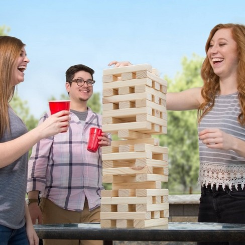 Hey! Play! Nontraditional Giant Wooden Blocks Tower Stacking Game - image 1 of 4