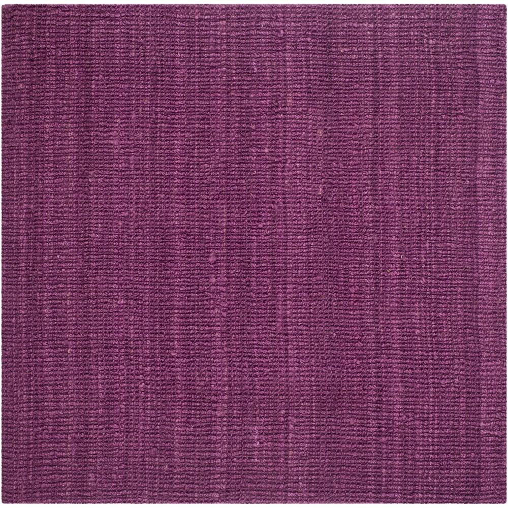 6'X6' Solid Woven Square Area Rug Purple - Safavieh