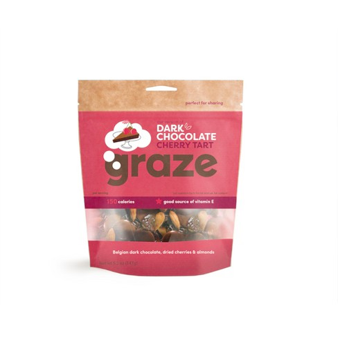 Graze Dark Chocolate Cherry Tart Belgian Dark Chocolate Buttons - 4.2oz - image 1 of 1
