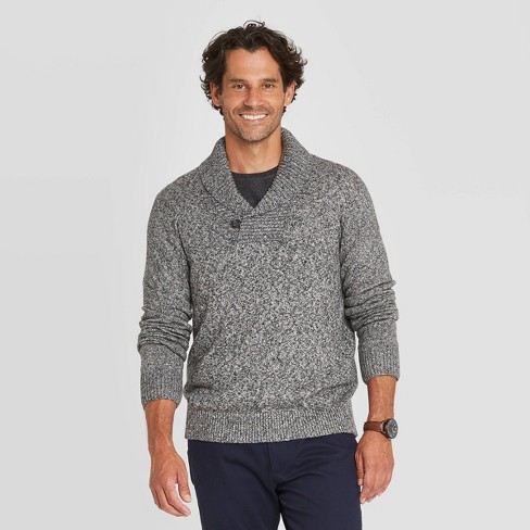 Men's Regular Fit Pullover Shawl Sweater - Goodfellow & Co™ : Target