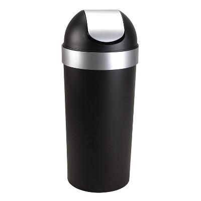 Umbra Umbra 16.3Gal Venti Indoor Trash Can Black/Nickel