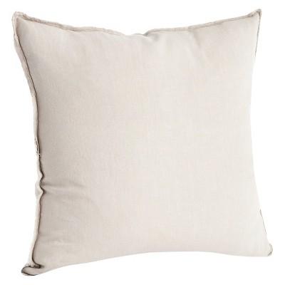 Fringed Design Linen Throw Pillow (20 x20 )Saro Lifestyle
