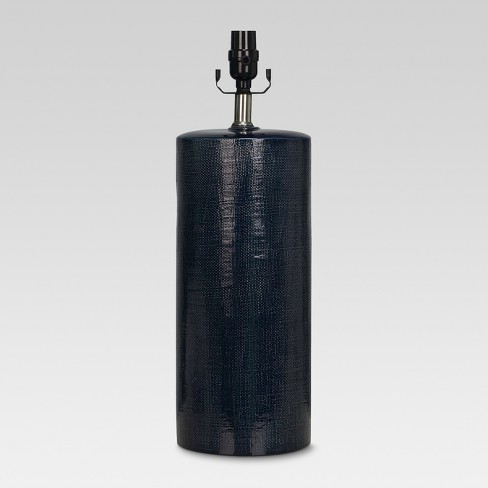 Linen Textured Ceramic Large Lamp Base Dark Blue - Threshold™ - image 1 of 1