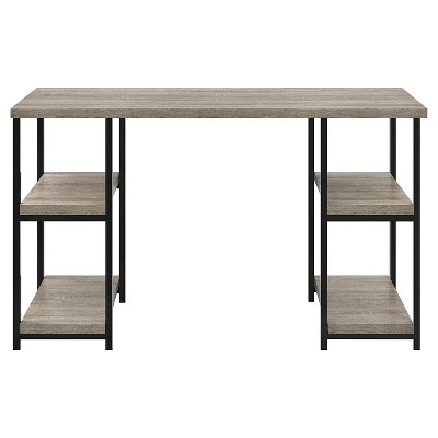 Arborview Double Pedestal Desk Sonoma Oak   Room U0026 Joy