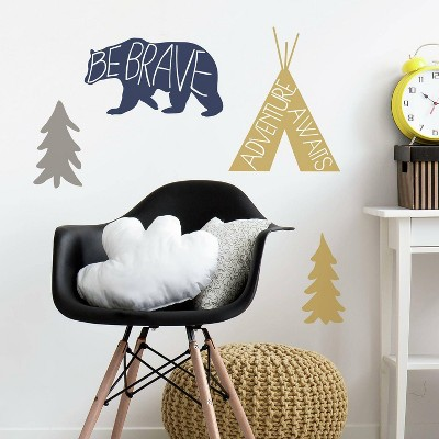 RoomMates Adventure Awaits Animal Peel and Stick Giant Wall Decal