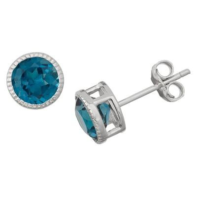 Sterling Silver 6mm Bezel-set Stud Earrings