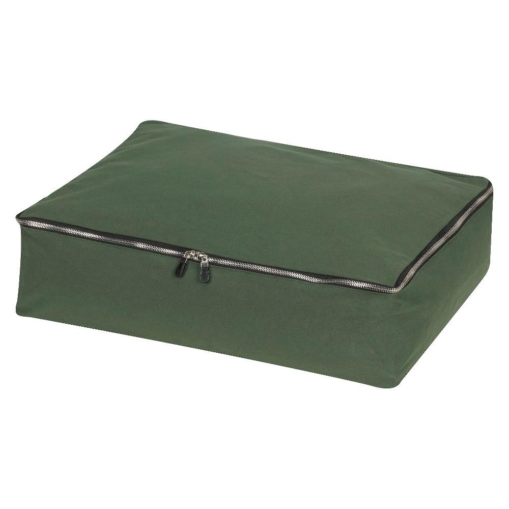 Design Trend CedarStow Shelf/Sweater Storage Bag with Red Cedar Panels, Green
